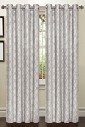 Lattice Blackout Curtain (2 Piece Set) Grey