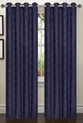 Lattice Blackout Curtain (2 Piece Set) Indigo