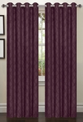 Lattice Blackout Curtain (2 Piece Set) Plum