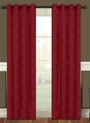 Lattice Blackout Curtain Panel with Grommets (Brick)