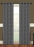 Lattice Blackout Curtain Panel with Grommets (Charcoal)