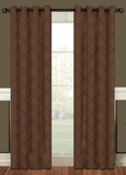 Lattice Blackout Curtain Panel with Grommets (Chocolate Brown)