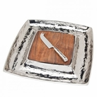 Lava Wood Cheese Board With Knife