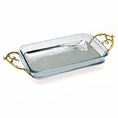 Leaf Design 3qt Rectangular Baker