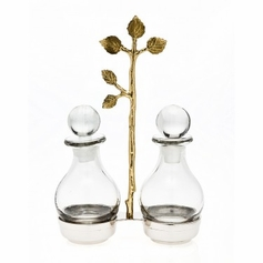 Leaf Oil & Vinegar Jars