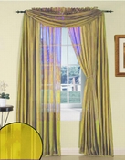 Lemon Yellow Silky Stripe Sheer Panel