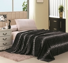 Leopard Print Blanket (White & Black)