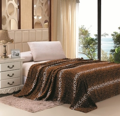 Leopard Print Blanket (Brown & Black)