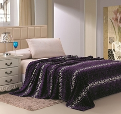 Leopard Print Blanket (Purple & Black)