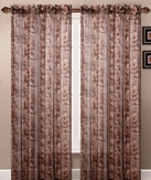 Leopard Printed Sheer Curtain Panel (Brown)