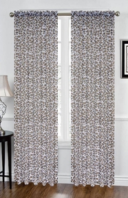 Leopard Sheer Curtain (Chocolate and White)