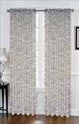 Leopard Sheer Curtain (Yellow and White)