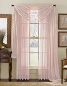Lilac Sheer  Curtain Scarf