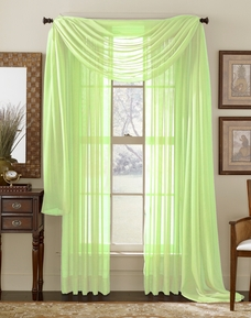 Lime Green Sheer Panel