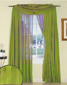 Lime Silky Stripe Sheer Panel