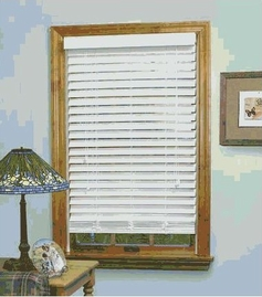 Madera Falsa Faux Wood Blinds (White)