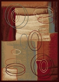 Madlena Abstract Ovals Area Rug