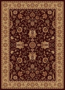 Madlena Floral Rose Area Rug (Brown /Ivory)