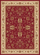 Madlena Floral Rose Area Rug ( Red / Ivory)