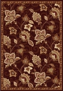 Madlena Full Floral Area Rug (Brown/Gold)