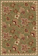 Madlena Full Floral Area Rug (Green/Gold)