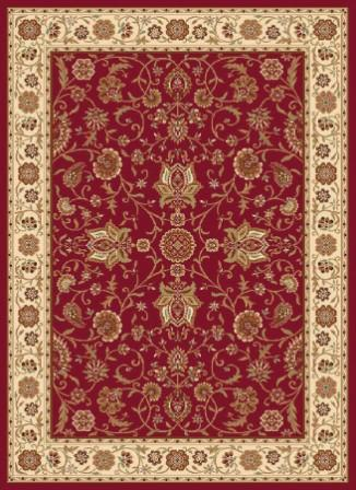 Madlena Ivy Border 5×8 Area Rug (Red)