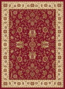 Madlena Ivy Border 8x11 Area Rug (Red)
