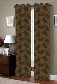 Majestic Grommet Curtain (Brown)