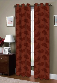 Majestic Grommet Curtain (Burgundy)