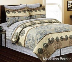 Medallion Border Printed Complete Bed in a Bag Set