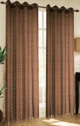 Mia Lace Grommet Curtain (Brown)