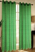 Mia Lace Grommet Curtain (Lime Green)