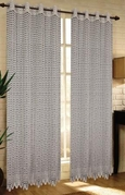 Mia Lace Grommet Curtain (Silver Grey)
