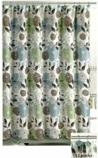 Midori Shower Curtain with 12 Polyresin Hooks