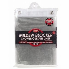 Mildew Blocker Shower Curtain Liner - Clear