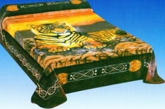 Mink Blanket with Tiger Print