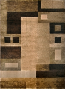 Moda Brown Modern Area Rug 4x6