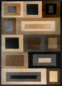 Moda Modern Rectangles  Area Rug 8x11
