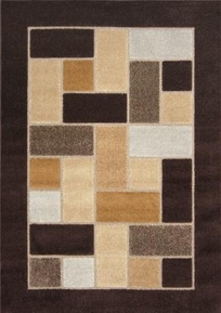 Modern Weave Brown Interlocking Rectangles 5x8