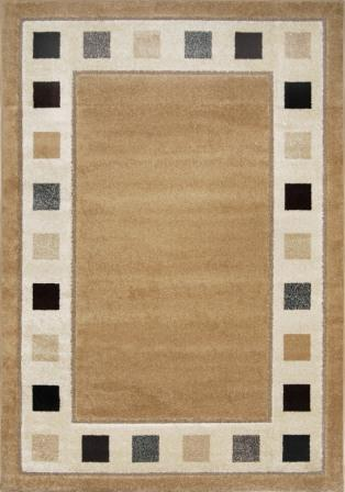 Modern Weave Taupe Border Squares 4x6