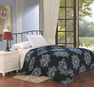 Navy Blue Daisy Micro-Plush Blanket