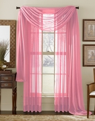 Neon Pink Sheer  Curtain Scarf