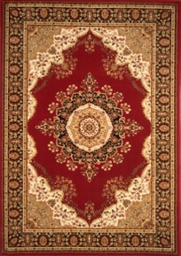 Nobility Wool Rug Red 5x8