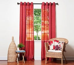 Oakland Red Grommet Sheer Panel