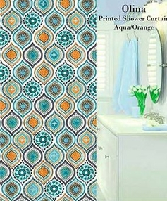 Olina Printed Shower Curtain