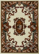 Oriental Flower Premium 5x8 Area Rug (Cream)