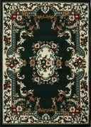 Oriental Flower Premium 5x8 Area Rug (Hunter)