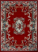 Oriental Flower Premium 5x8 Area Rug (Red)