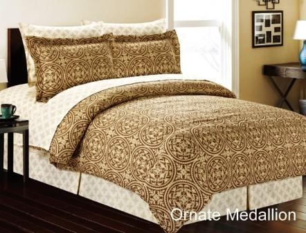 Ornate Medallion Complete Bed in a Bag Set