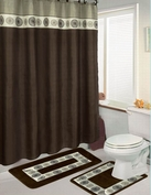 Osbourne 15 Piece Bath in a Bag Set (Brown)